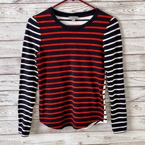 COS Collection of Style Striped Long Sleeve Tee XS